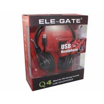 Audífono Diadema Con Micrófono Ele-gate Q4, Ideal Para La Co