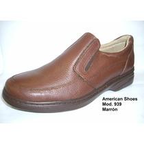 Zapatos American Shoes Cuero Mod. 938-939 Marron Negro