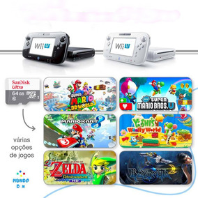 Nintendo Wii U Loadiine + Sandisk 64gb + 64gb De Jogos