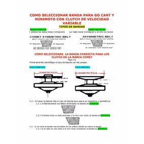 Banda Para Go Cart Y Minimoto Clutch Velocodad Variable