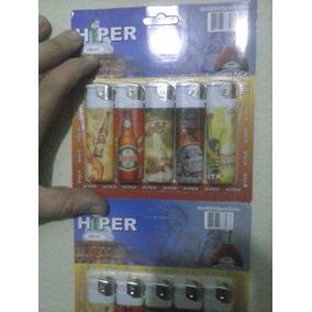 Isqueiro Automáticos Hiper Cartela Com 10 Unidades+brinde