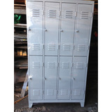 Locker 8 Puertas De Chapa El Mejor 1,83 X 0,50 X 1,03.mts