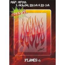 Molde Vazado True Fire Aerografia E Pinturas Rf011