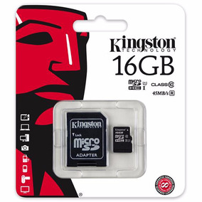 Memoria Micro Sd Hc 16 Gb Kingston Clase 10 Tienda Oficial