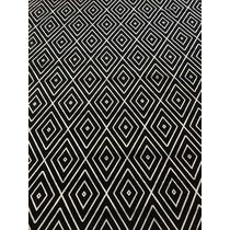 Tapete 3x2m 2x3m Geometrico Preto Estilo Flat Belga Corttex