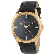 Reloj Armitron Mens 20/4902bkgpbk Crystal Swarovski