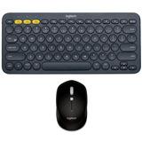 Logitech, Combo Sin Cables: Teclado K380 + Mouse M535, Negro