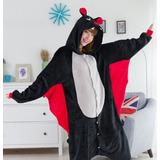 Pijama De Pelúcia Morcego Vampiro Unissex