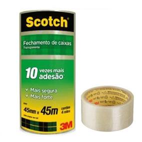 Fita Empacotamento 3m Scotch 45mm 45m 20 Rolos - A Melhor