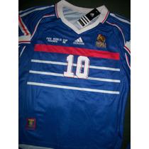 Camiseta Francia Retro Zinedine Zidane