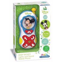 Educando Teléfono Celular Mickey Para Bebés Con Luz Y Sonido