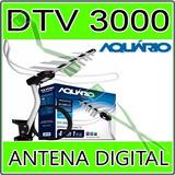 Kit Antena Externa Digital Aquário Dtv3000 Vhf Uhf Hdtv
