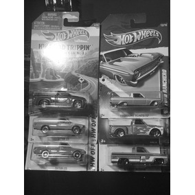 Set De 6pzas Camionetas Hot Wheels Datsun,chevy Y Ford