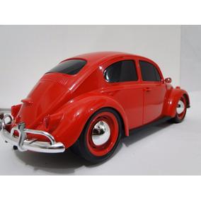 Belissimo Fusca Vermelho Brinquedo Pneus Borracha Volkswagen