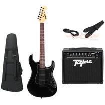 Kit Guitarra Tagima Mg32 Preta + Amplificador Fox 20