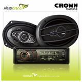 Autoestéreo Crown Mustang Dmk-9000 + Juego De Parlantes 6x9