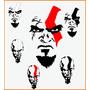Adesivos God Of War Irado 2 Uni + Frete Grátis Ótimo Preço