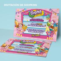 Invitación Imprimible Cumpleaños Shopkins