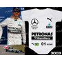 Body Infantil Corrida F1 Equipe Mercedes Petronas Hamilton