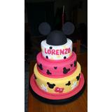 Tortas Decoradas Infantil Mickey 4k+piso Falso Deco Incluida