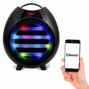 Caixa Som Led Bluetooth Portátil Usb Rádio P2 Recarregavel