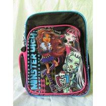 Mochila Monster High 100% Original Ideal Para Kinder