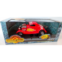 Ertl Año1934 Ford High Tech Red Flames American Muscle 1/18