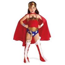 Disfraz Mujer Maravilla Niña Halloween Wonder Woman