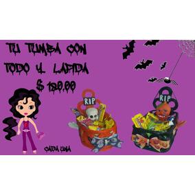 Canasta Tumba-lápida, Para Día De Muertos. (papel Reciclado)