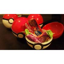 30 Souvenirs Pokemon Pokebolas De Plástico Con Dulces!!!