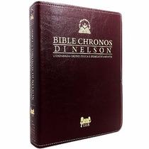 Biblia De Estudo Chronos Di Nelson Novo Testamento Vinho