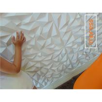 Painel Decorativo 3d Impress Alto Relevo Pvc R$ 39,40/ Placa