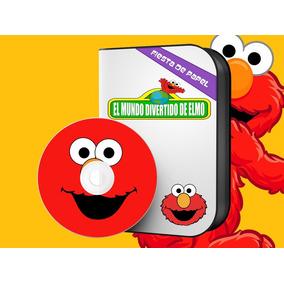 Ki-048 Kit Imprimible Y Editable Elmo Plaza Sesamo