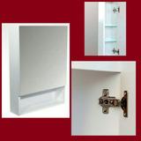 Botiquin Espejo Blanco Repisa De Vidrio Chico Simple 30x50