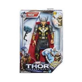 Boneco Articulável Avengers Vingadores Thor Som E Luz Hasbro