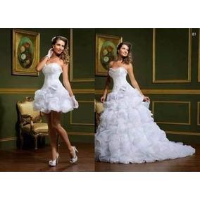 Vestido De Noiva Ou Debutante 2 Em 1- Curto/longo