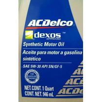 Aceite Sintetico Sae 5w-30 Api Sn/gf-5, Ac Delco Dexos 946ml