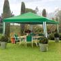 Gazebo 100% Polyester 3 X 3mt Jardín Patio Sombrilla Oferta!