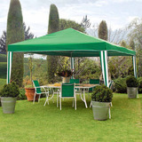Gazebo 100% Polyester 4 X 3mt Jardín Patio Sombrilla Oferta!