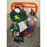 Equipo Gasógeno 1kg Carburo Y Tubo 1m3 Oxígeno