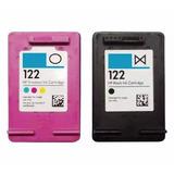 Kit 2 Cartucho Hp 122 Preto Color Impressora Hp Deskjet 2050