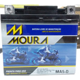 Bateria Ybr 125 Partida Elétrica Pcx 150 Xre Bros Cg Ma5-d