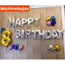 Combo Globos Metalizado Happy Birthday