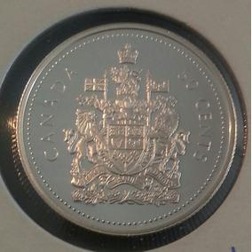 Canada 50 Centavos 2002 Plata Proof Elizabeth Ii