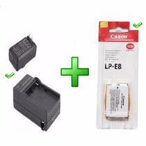 Bateria Para Canon Lp-e8 + Carregador T2i T3i T4i T5i Kiss X