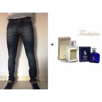 Calça Masculina C/ Lycra Skinny + Perfume Hinode