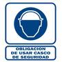 Cartel Usar Casco Seguridad Linea Obligación Alto Impacto