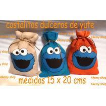 Come Galletas Plaza Sesamo Costalitos Yute Personalizados 30