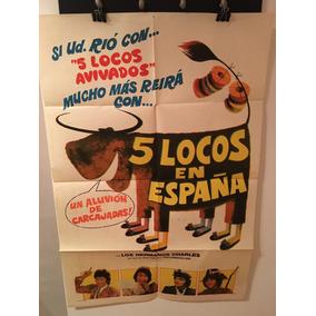 Afiche De Cine Original - Cinco Locos En España