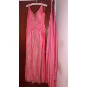Vestido De Fiesta Madrina Alta Costura Muy Fino E Impecable